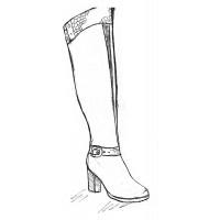 Женские ботфорты на полную ногу и широкую стопу