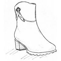 Женские полусапоги на полную ногу и широкую стопу