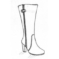 Женские сапоги на полную ногу и широкую стопу