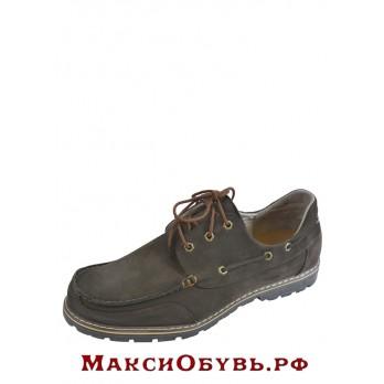 Полуботинки Delfino 555378_коричневый_нубук